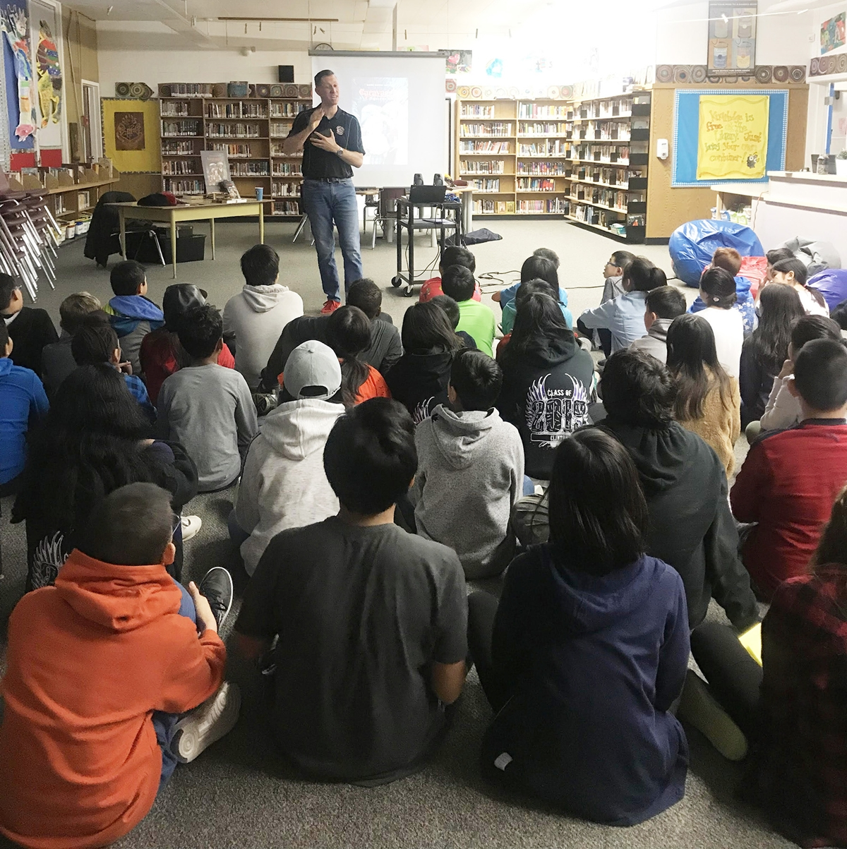 Mark David Smith at World Read Aloud Day 2019