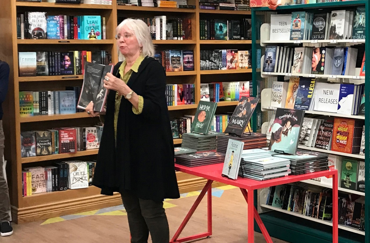 Linda Bailey at the launch of her book Mary Who Wrote Frankenstein