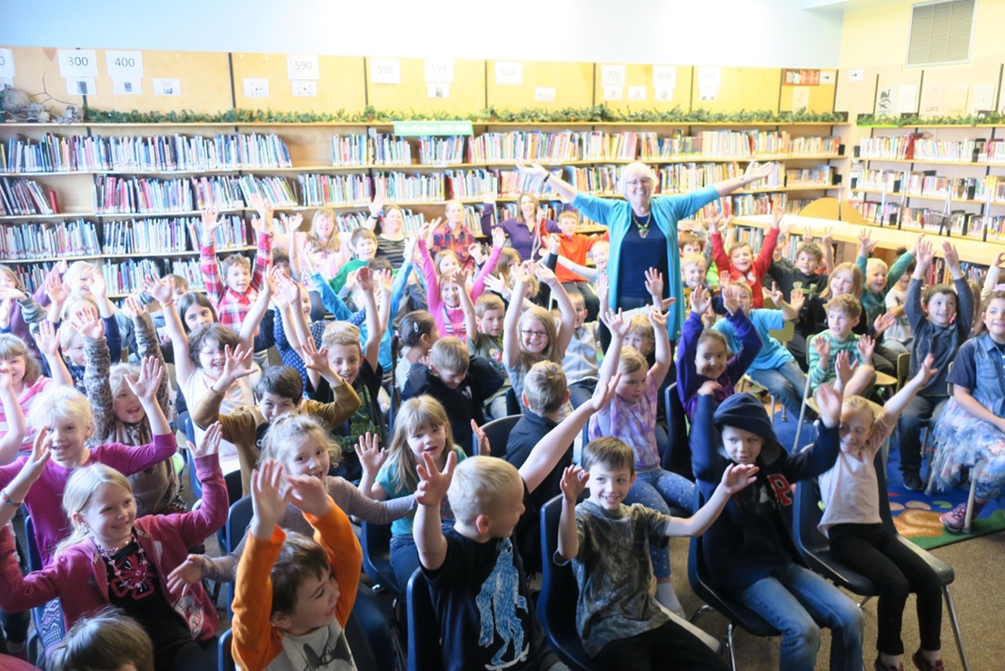 Kari Rust presents at a Vancouver school